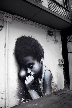 A series of wonderful street art pieces