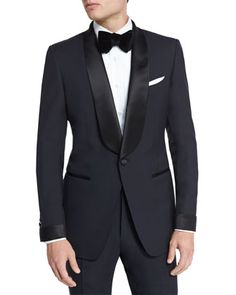 O\'Connor Base Shawl-Collar Tuxedo, Navy by TOM FORD at Neiman Marcus.