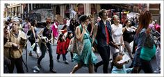 Photograph by Peter Funch.   Babel Tales, Portraits, NYC, Crowds