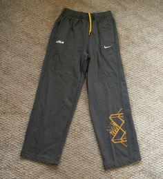 Nike Lebron Lion Opposition Athletic Pants gray gold L 14-16  EUC #Nike #AthleticSweatPants