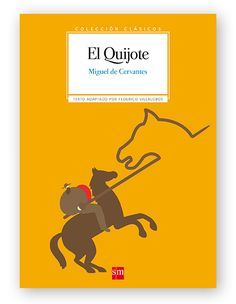 Magoz Illustration cover for El Quijote. Published by SM