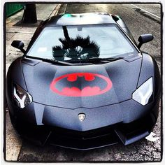 Cool 'Bataventador' Lamborghini. Click on the pic & sign up today to win a chance to drive a #Aventador like this.