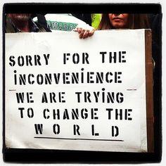 Message aux contre-manifestants