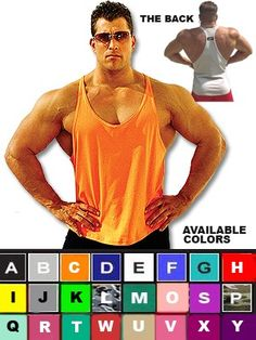 aa06b412e1d277 Buy Original Mens Y-Back Stringer Tank Tops From The Company That Makes  Them In. Physique Bodyware ...