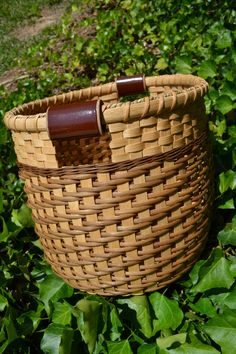 BIG Handwoven Reed Large Storage Basket.  Stunning