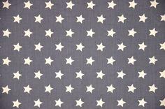 Antraciet Gordijn Stars | Be.1443 BB Ster L d.grijs | Kindergordijnen