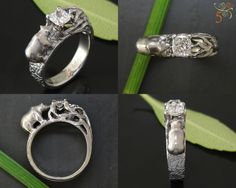 this is amazing! the bear, the tree holding the stone...i want this just for having it! i KNOW GLJW can make the perfect custom, hand-carved otter ring with emerald for me! #jewelryworks #engagement