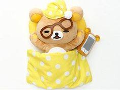 Falling asleep with a cell phone (≧∇≦) #Rilakkuma