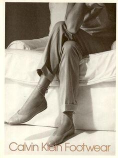 Calvin Klein Campaign SS 1986 - Josie Borain, Carey Lowell by Bruce Weber Calvin Klein Ads, Calvin Klein Shoes, Bruce Weber, Solid And Striped, Italo Disco, Azzedine Alaia, Robert Mapplethorpe, Jean Michel Basquiat, David Hockney
