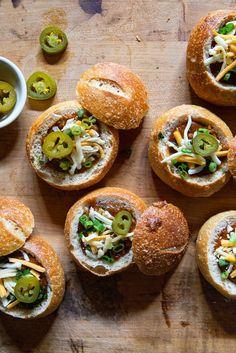 Mini Chili Bread Bowls via Real Food by Dad