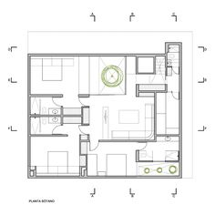 Image 44 of 50 from gallery of P12 House  / Martin Dulanto. Basement Level Plan