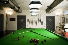 A Dream Home Decorating Ideas On Christmas: playful home interior design with indoor pool table