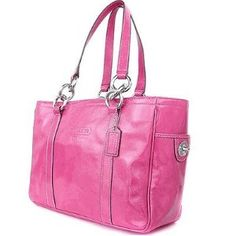 COACH PATENT GALLERY LEATHER EAST/WEST TOTE- F 12839 - Pink (Apparel)  discount coach handbags 70% off