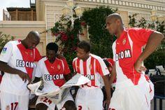 Olivier Kapo, Emmanuel Adebayor, Patrice Evra et Maicon (AS Monaco)