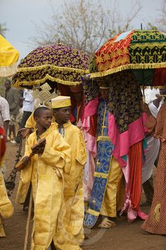 Ethiopia - Timkat Procession (An Ethiopian Orthodox Celebration of Epiphany)