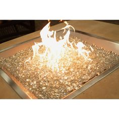 Outdoor GreatRoom Gas Crystal Fire Stainless Steel Burner Kit - Propane Fire Pits at Hayneedle
