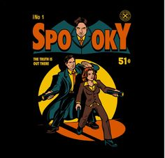 X-files t-shirt, Spooky Mulder and Scully.  Need I say more... (my brain melted with happiness)