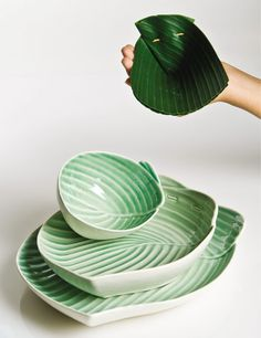 u0027Pincuku0027 plates and bowl by indonesian designer Sasanti Puri Ardini . translated from folded & Banana leaf-packaging. | Packaging | Pinterest | Banana leaves ...