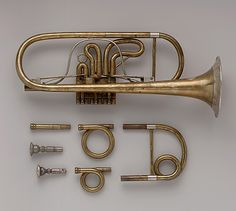 1845 American (Massachusetts) Valve trumpet at the Metropolitan Museum of Art…