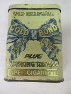VINTAGE ADVERTISING GOLD BOND TOBACCO VERTICAL POCKET   TIN 366-F