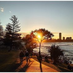 Sunset at Burleigh Heads Point, Gold Coast, Queensland, Australia with @danriego #visitgoldcoast www.handyman-goldcoast.com