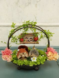 This is the cutest ring carrier! Paper Flower Backdrop Wedding, Sunflower Wedding Decorations, Engagement Decorations, Diy Wedding Decorations, Thali Decoration Ideas, Diwali Decorations, Ring Holder Wedding, Ring Pillow Wedding, Wedding Rings