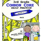 Daily Math practice sheets designed for student practice of common core standards. This packet contains 20 different reproducible sheets that can b...