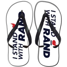 a politician really shouldn't have their name on flip flops, for obvious reasons...