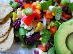 Taco Salad with Creamy Lime Dressing « eggs on sunday