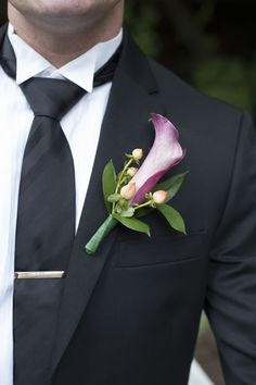 Purple calla lily boutonniere | Naninas In The Park, Northern NJ | Studio A Images