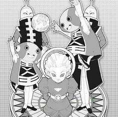 Zeno Sama, Zeno Chan and Grand priest Dbz, Daishinkan Sama, Dragon Ball Z, Adventure Time Anime, Son Goku, Fanart, Best Dad, Priest, Coloring Pages