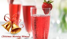 Christmas Morning Mimosa Recipe ---> Start your Christmas morning off with a little sparkle by sipping on this seasonal mimosa.