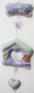 Princesa Vereníssima: Adesivo de tecido para parede com corujas e passarinhos e moldes.
