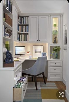 new york corner kitchen desk home office traditional with drawers modern wingbac… - modernmim. new york corner kitchen desk home office traditional with drawers modern wingbac… – modernmimar Home Office Layouts, Home Office Organization, Home Office Space, Home Office Desks, Home Office Furniture, Office Ideas, Office Decor, Office Nook, Furniture Ideas