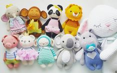 Ava, Max, Nele, Leo, Freddy, Holly, Mara, Pepe, Ben and Mia ° ° ° Pattern/Anleitung in my etsy shop ° ° ° #amaloudesigns #pattern #anleitung #amaloufamily #amigurumi #crochet #kawaii #etsyshop #etsystore #etsyseller #craftastherapy_new