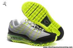 Hommes Nike Air Max 95 DYN FW Chaussures Gris Noir Volt