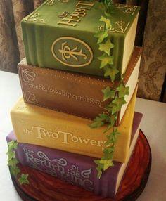 Lord of the Rings Books Cake / Herr der Ringe Torte Bücher