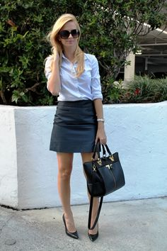 After 5 date...straight from the office. Very chic. @LOFT @Ann Taylor