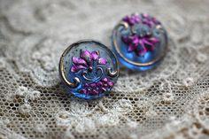 old art nouveau glass buttons