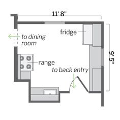 Floor Plan: Ian Worpole | thisoldhouse.com | from Same Kitchen Space, More Storage