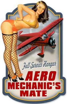 aviation pinups | Full Service Hangar Aviation Pin Up Sign