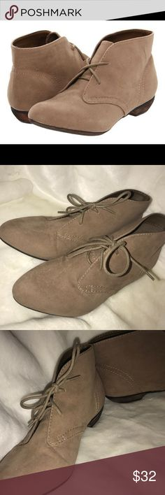 Big Buddha Reese lace up shoes Super cute tan lace up shoes. Never worn. Size 8.5. Big Buddha Shoes