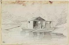 Charles François Daubigny, Barbizon, The Botin, Drawing