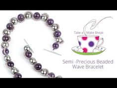 Create this simple seed bead and semi-precious bracelet. This pretty design is so easy to learn and you're sure to love making your own matching set of wave ...