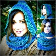crochet scoodie, hooded cowl infinity scarf free pattern