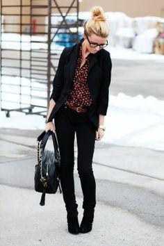 My Style / blazer. black jeans.
