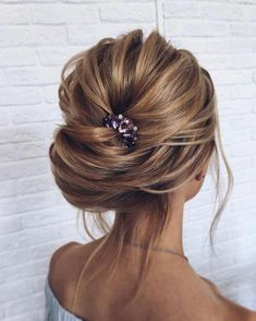 Wedding Hairstyles Updo When it comes to weddings,These Fabulous Updo Wedding Hairstyles with Glamour are perfect for brides every wedding season,romantic hairstyles,bridal chignon - Hair by Sartakova Studio Romantic Hairstyles, Bride Hairstyles, Cool Hairstyles, Hairstyle Ideas, Hair Ideas, Formal Hairstyles, Hair Tips, Bridal Chignon, Messy Wedding Updo