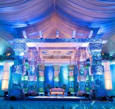 wedding reception stage in JP Nagar, Bangalore. #indianwedding #bangalore #india #weddingplanner