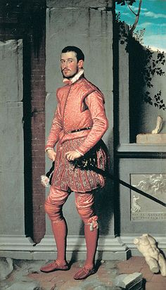 Portrait Of The Cavalier In Red by Giovanni Battista Moroni 1560