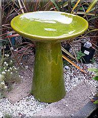 small citrus birdbath